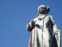 Standbeeld in Brugge, België Royalty-vrije Stock Foto