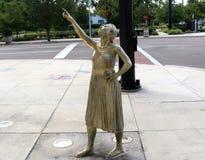 Standbeeld buiten het Amway-Centrum, Orlando, Florida royalty-vrije stock foto