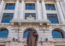 Standbeeld buiten het Hooggerechtshof van Louisiane Stock Fotografie