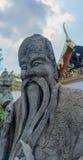 Standbeeld in Chinese stijl in Wat Pho Kaew, Bangkok, Thailand Royalty-vrije Stock Afbeeldingen