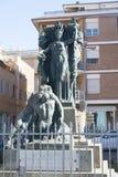 Standbeeld in Civitavecchia, Italië Stock Afbeelding