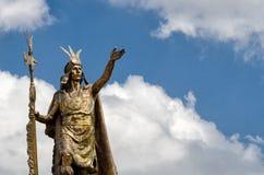 Standbeeld in Cusco Royalty-vrije Stock Fotografie