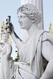 Standbeeld dat een oude Griekse mythische muse toont Royalty-vrije Stock Afbeeldingen