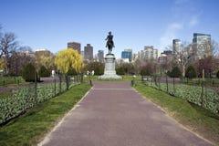 Standbeeld in de Gemeenschappelijke Openbare Tuin van Boston Stock Foto
