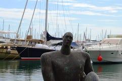 Standbeeld in de Haven van Alicante Stock Afbeeldingen