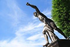 Standbeeld in de Mirabell-Tuinen in Salzburg, Oostenrijk stock foto's