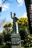 Standbeeld in de mooie Gemeentelijke Tuinen Funchal Madera Stock Foto's