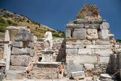 Standbeeld in de Oude Stad van Ephesus Royalty-vrije Stock Foto's