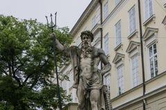 Standbeeld in de stad Royalty-vrije Stock Afbeelding
