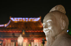 Standbeeld in de Tempel van Confucius Royalty-vrije Stock Fotografie