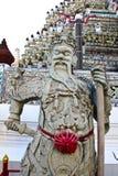 Standbeeld in de tempel van Wat Arun, Thailand. Royalty-vrije Stock Afbeelding
