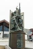 Standbeeld in de waterkant van Wellington, Nieuw Zeeland royalty-vrije stock foto's