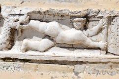 Standbeeld - detail van Palazzo Ducale in Venetië, Italië stock foto
