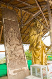 Standbeeld dichtbij het Grote monument van Boedha, Phuket, Thailand Stock Foto