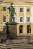 Standbeeld Duc Richelieu in Odessa stock fotografie