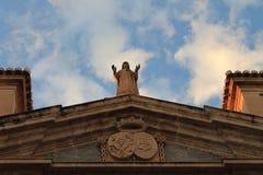 Standbeeld en Hemel Royalty-vrije Stock Afbeeldingen