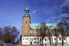 Standbeeld en kathedraalkerk Stock Afbeeldingen