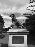 Standbeeld in Exeter Stock Fotografie