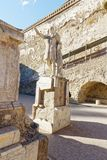 Standbeeld in herculaneum, Napels Royalty-vrije Stock Foto