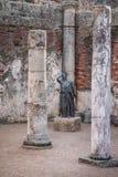Standbeeld in het Roman theater van Merida Stock Foto's