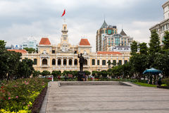 Standbeeld in Ho Chi Minh City Stock Afbeelding