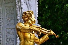 Standbeeld Johann Strauss II in Wien royalty-vrije stock foto