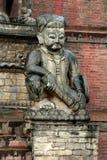 Standbeeld in Katmandu, Nepal Royalty-vrije Stock Afbeeldingen