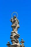 Standbeeld in Kladno - Tsjechische republiek stock foto's