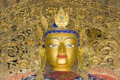 Standbeeld in Klooster Palkhor Stock Afbeeldingen