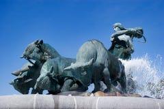 Standbeeld in Kopenhagen Royalty-vrije Stock Foto