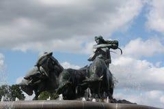 Standbeeld in Kopenhagen Stock Afbeelding