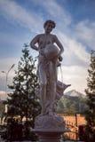 Standbeeld met water Stock Afbeeldingen