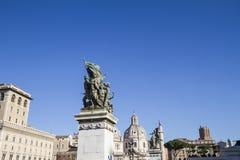 Standbeeld Monumento Nationale Rome Stock Fotografie