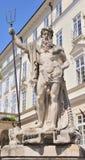 Standbeeld Neptun Datum van verwezenlijkings 1800-1900 jaar Lvov, de Oekraïne Stock Afbeelding