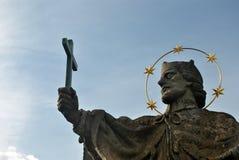Standbeeld op de Oude Belangrijkste Brug van WÃ ¼ rzburg ` s stock foto