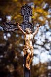 Standbeeld op graf in de oude begraafplaats Stock Afbeeldingen