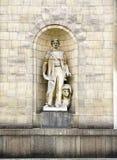 Standbeeld op het Paleis van Cultuur en Wetenschap Royalty-vrije Stock Afbeeldingen