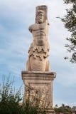 Standbeeld in Oud Agora Athene Stock Foto