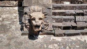 Standbeeld in oude stad van teotihuacan Royalty-vrije Stock Afbeelding