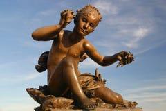 Standbeeld in Parijs Stock Fotografie