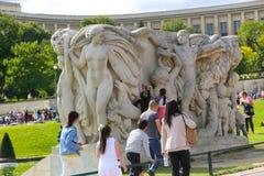 Standbeeld - Parijs Stock Afbeelding