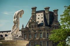 Het standbeeld van Cain door Henri Vidal, Tuileries tuin Stock Foto