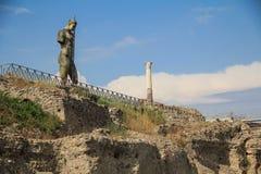 Standbeeld in Pompei Stock Afbeeldingen