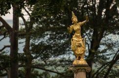 Standbeeld in Portmeirion Stock Afbeeldingen