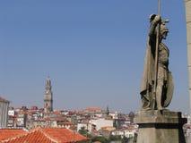 Standbeeld - Porto Royalty-vrije Stock Fotografie