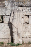 Standbeeld in Roman Agora Athene Stock Foto's