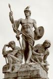 Standbeeld in Rome Stock Fotografie