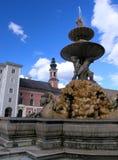 Standbeeld in Salzburg Stock Fotografie