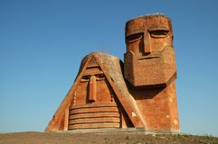 Standbeeld in Stepanakert, Nagorno Karabakh royalty-vrije stock afbeelding