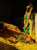 Standbeeld in Tempel Stock Foto